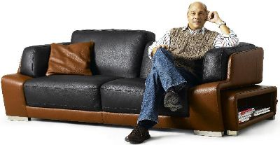 Jeff on Kuka sofa